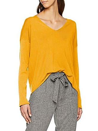 Benetton Ls Marron Femme V Pull Neck 3c7 Sweater Camel xSBOSn