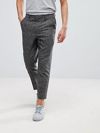 Textura Tapered Color Pantalones De Antracita En Vestir Asos Con nBwzRqHq6