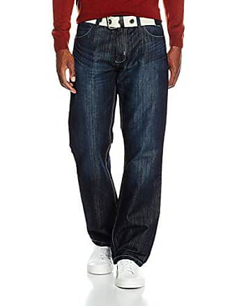 Para Jeans Hombre talla 36 darkwash Cinturón Fabricante Ez14 Del Enzo Con Azul l32 Vaqueros R W36 YxU1Xndq