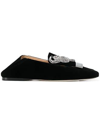 Rossi Loafers Velvet Embellished Noir Sergio HWdPqwqF