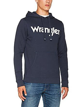 Hoodie Popover Shirt Wrangler Logo navy Sweat Bleu Homme 35 Fq55TwOE
