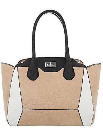 Umhängetasche Trendy Tasche Damen Schultertasche design Apricot Handtasche Ital 6fCOqYXw