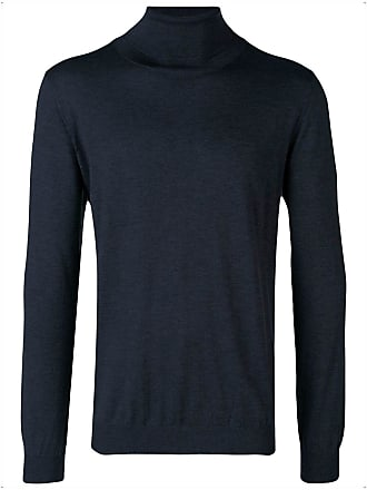 Roll Fitted Laneus Bleu neck Sweater r5Sqr8