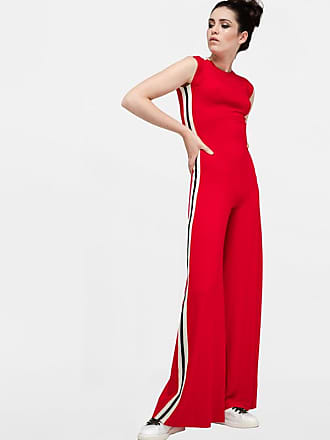 Jumpsuit Red With Kamali Norma Bands Viscose Signature 8twFwx1