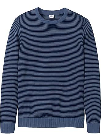 Langarm In Streifen Von Mit Bonprix Jeanswear Pullover John Baner Blau PNnk0wO8X