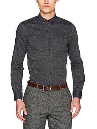Black 91243herstellergröße42 Sisley Check Mehrfarbiggrey Shirt Checked Herren Freizeithemd ZTOXiuPk