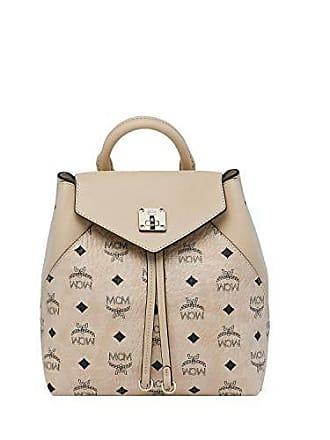Beige Essential Damen Original Sml Rucksack Mcm Visetos xFYww06