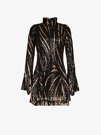 Dress Mini Fitted Halpern Embellished Sequin ZYgwOq7