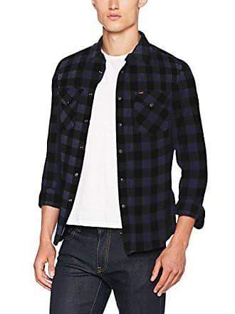 mood Longues T Western Cbdr Indigo Homme shirt à T Lee Manches Bleu Large TYU858wqd