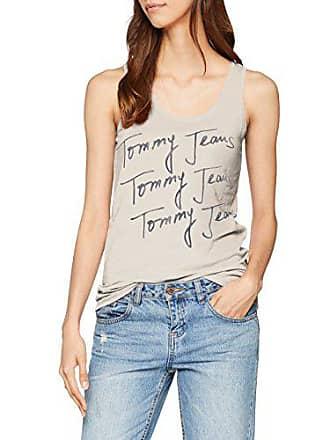 Mujer Htr Manga Grey Tank light Corta Bc03 Summer Script 000 Gris Logo Tommy Camisa Medium Jeans B5fxfUH