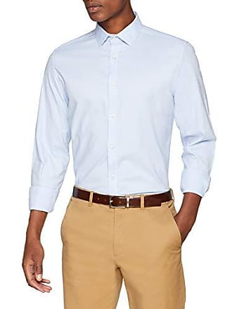 Del Hombre Solid 15 Camisa Ds Para Easy Strech tamaño Springfield gama l Care Fabricante Large Azules Casual A68qwRABx