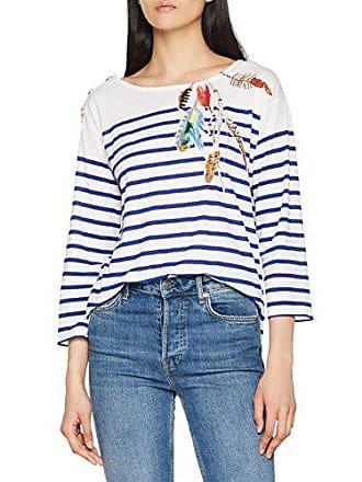 Leon shirt Manches Femme Medium Blanc M taille Fabricant T Longues amp; White Harper Thila XSfqXIr