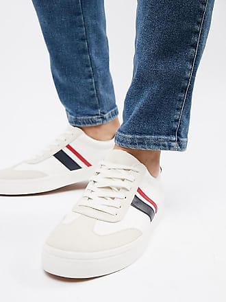 Larga Rosse Bianche Blu Navy Sneakers Con Bianco Pianta E Asos Righe Rétro UFRSqq