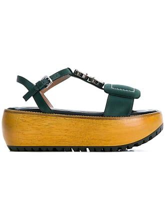 Sà Plateforme Sandale Plateforme Sà Marni Vert Sandale Vert Marni zzaqPE
