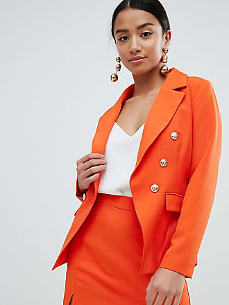 Missguided Dorés À Boutons Blazer Orange 7rzgzwX84