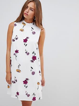 Floral Recto De Sin Gilli Vestido Con Estampado Mangas Pq4xY6