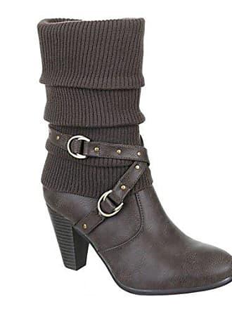 King Damen Wadenhohe Klassische Of Boots Heels Stiefeletten Trichterabsatz High 29240Grau Shoes Stulpen Stiefel 6bfy7g