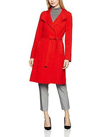 015 Double Crepe red Femme Manteau Wallis 42 Rouge wFq7F