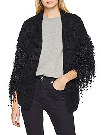 40 Fabricant Sleeve Gilet New taille Fringe Cardigan 52 Look black Noir Femme 1qwwRTx74