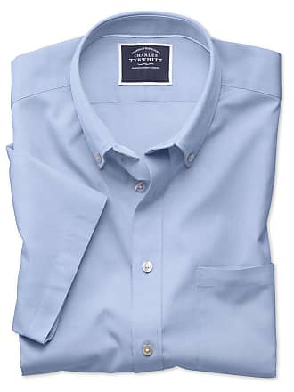 Slim Fit Kurzärmeliges In Tyrwhitt Himmelblau Charles Knopfmanschette Oxfordhemd qCSBwUvE