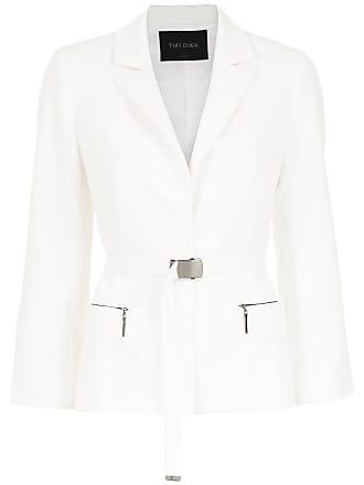 Belted Tufi Blazer Duek Duek Tufi Blanc qTtvt4w