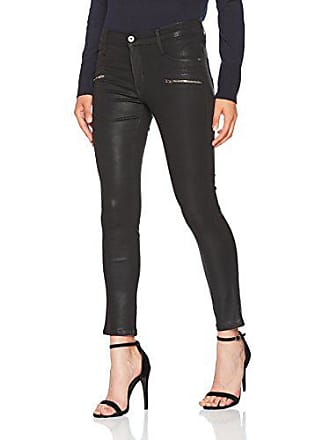 James Zip Front Slicked Ankle Noir Jeans Skinny With Femme Oil Jean Twiggy W28 l27 qnrRfqw1