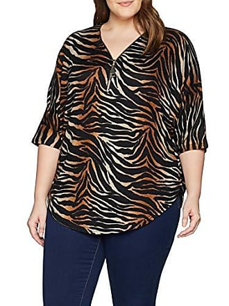 Para 44 Tiger Pattern talla 53 Mujer Look brown 29 Marrón New Curves Del Ombre Blusa 6080361 Fabricante FBBqYw
