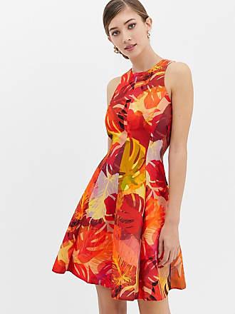 Acampanado Rojo Estampado De Con Closet Floral Vestido zCxqwOfTU