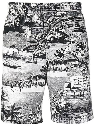Schwarz Schwarz Shorts Print Mit Shorts Print Msgm Msgm Mit fwvqa8