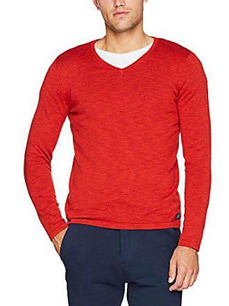 4767 V Sweater Basic Uomo Felpa Tom Neck Tailor Red Rosso valiant ISvWxwqE