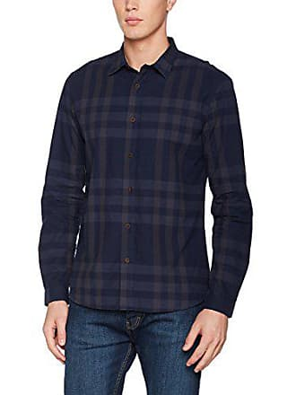 Scale Large London Hombre Check Hymn Casual Navy Medium Camisa Para Azul EAwqaT