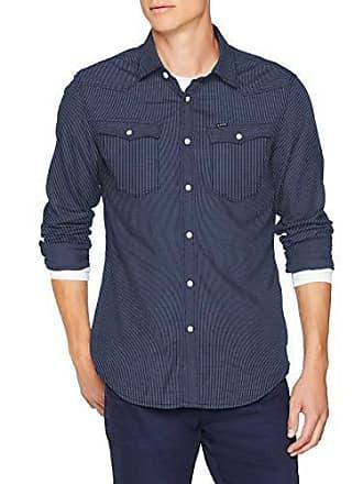 Azul Medium star Para 3301 Hombre G Sudadera Slim Ls rinsed Shirt 082 1qg8a