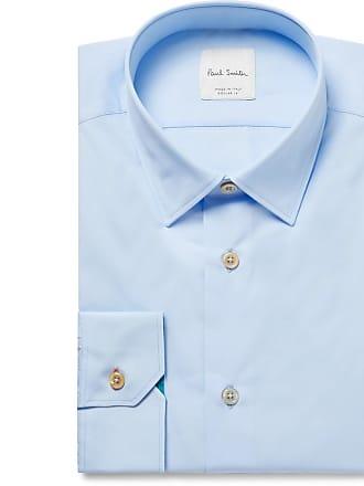 blue Paul Smith Light Light Shirt Cotton Slim fit poplin Blue qxgpnPawx
