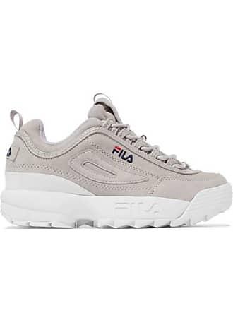 Disruptor Ii Premium Aus Fila Grau Mit Veloursleder Sneakers Logoverzierung AqfxR6wRg