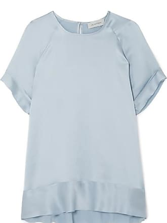 T Clair Satin Soie Lee En De shirt Mathews RoseBleu kXPiuZ