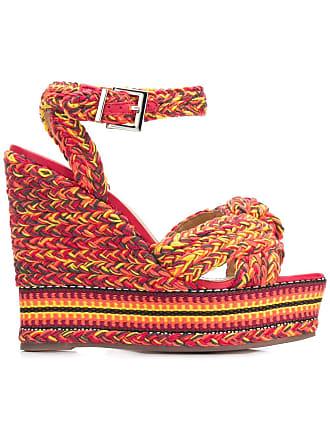 Sandales à Compensées Design Schutz TresséRouge cLq5R34jSA