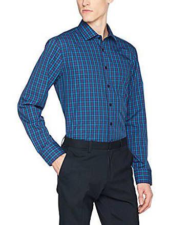 Size Bügelfrei Hombre 41 17 Modern Oficina De blau Para Camisa Cm Azul Collar Seidensticker PqfYxgw5x
