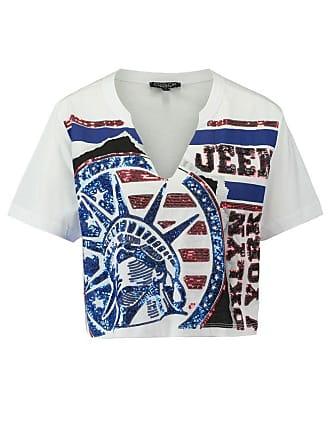 Wit Coolcat T shirt Eamerica Dames TwxxR6I4