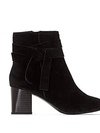 Cuir Noeud La Détail Redoute Boots Noir Collections 6x6HtqwX