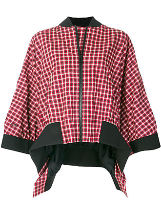 Flared Flared Plaid Jacket Rouge Fendi Fendi Plaid a8dq8I
