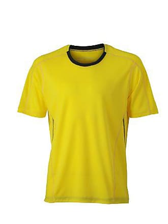 Oscuro Lunghe Maniche large gris A shirt T Nicholson Maglia Mens Extra Running Amarillo amp; Hombre James OBafHz1H