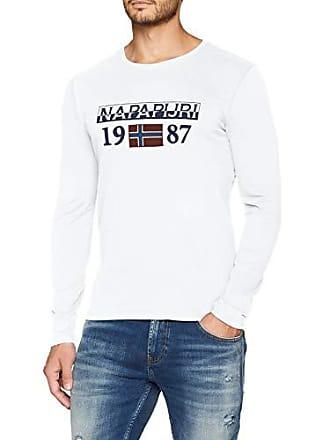bright Camiseta Solin 002 Ls Napapijri White Blanco large Xxx Hombre wqRWWP4aXF