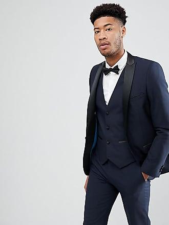 Tall Liso Harry Con En Slim Corte Esmoquin Negro Diseño De Chaqueta Brown F4wq78x4fP