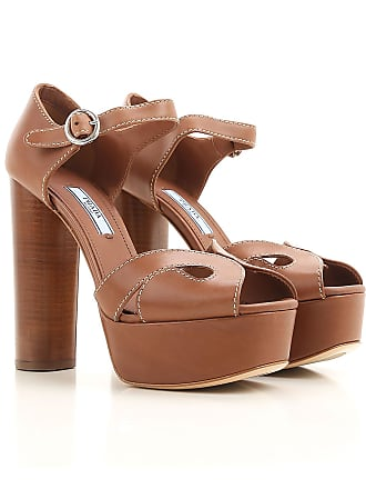 Pumps 2017 39 amp; Heels Sale In Leather Women Prada For Outlet High Brandy On 6BdwOq7O