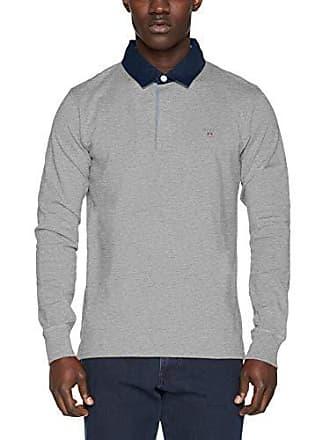 shirt Longues Melange Gant Homme à Heavy The T T Gris Manches grey Medium Original Rugger 93 xFaYwAqHF