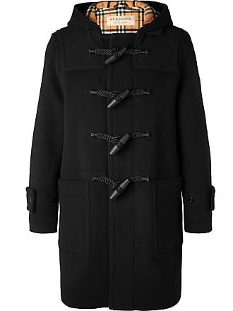 Wool Black Burberry Hooded blend Duffle Coat 4awpgFq