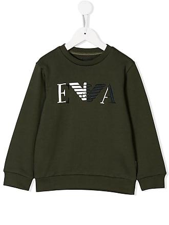 Grün patch Armani Emporio Sweatshirt Logo Mit 4xIXq