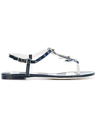 Sandales Bleu amp; À Détails De Dolce Clous Gabbana TxEwUq00F