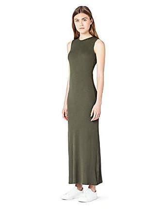 Verde Fit Mujer Meraki Vestido Slim Sin Mangas Maxi Medium green XHY0OOZqax