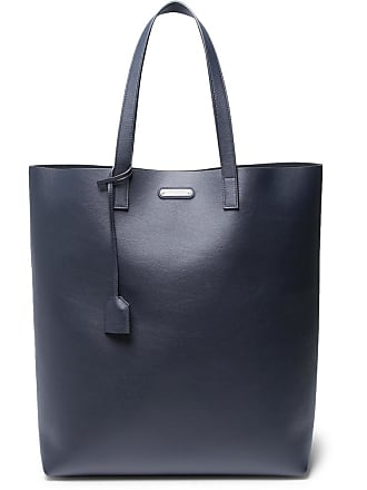 Navy Bag Tote Laurent Leather Saint qI4TA6wx
